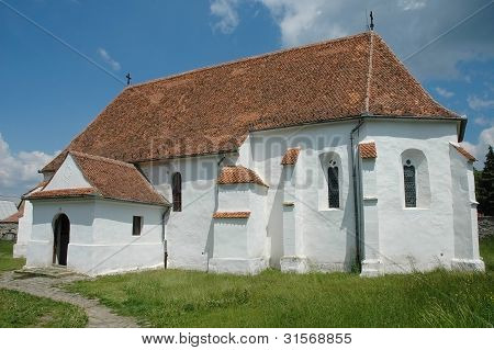 Fortified church of Ghelinta in Covasna county, Romania