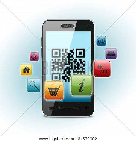 Qr Code On Smartphone Screen