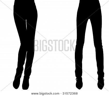 Silhouette Of A Weak Elegant Woman