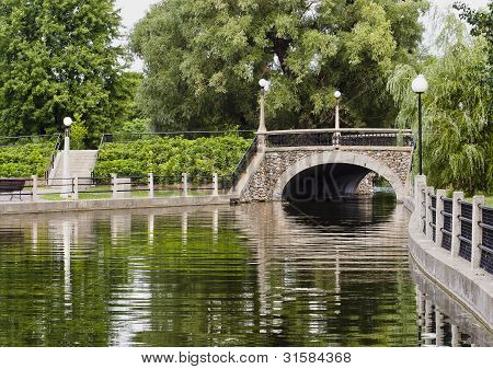 Summer Stone Bridge