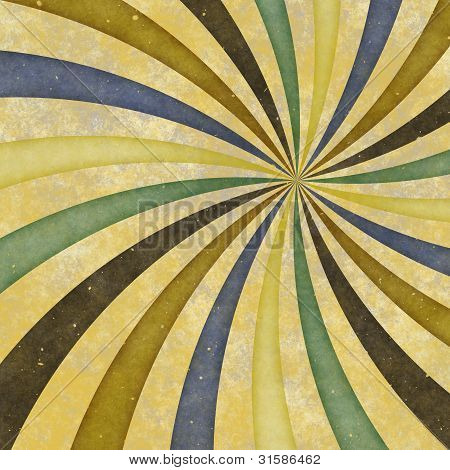 60's 70's Groovy Retro Swirl Funky Wild Spiral Rays