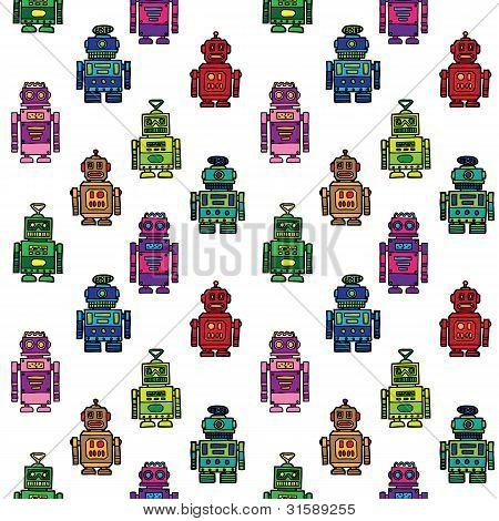 Robots seamless pattern