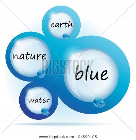 Blue Water Abstract Web Design