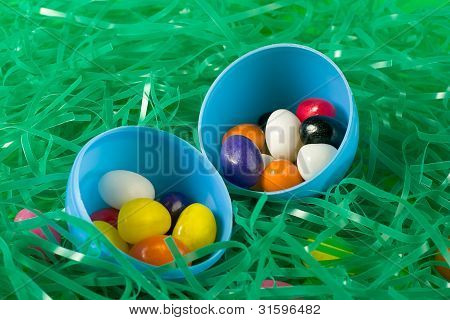 Jellybeans in Easter egg