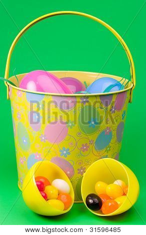 Easter eggs in pail