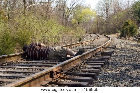 Laying On The Rails