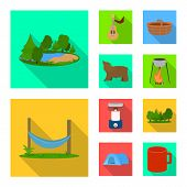 Vector Design Of Tourism And Excursions Icon. Collection Of Tourism And Rest Stock Vector Illustrati poster