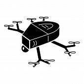 Small Copter Drone Icon. Simple Illustration Of Small Copter Drone Icon For Web Design Isolated On W poster