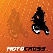 picture of moto-x  - Vector motocross background - JPG