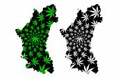 Perak (states And Federal Territories Of Malaysia, Federation Of Malaysia) Map Is Designed Cannabis  poster