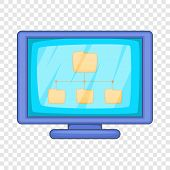 Desktop Folders Icon. Cartoon Illustration Of Desktop Folders Icon For Web Design poster