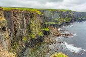 Spectacular View Of The Rocky Cliffs Along The Coastal Walk Route From Doolin To The Cliffs Of Moher poster