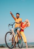 The Concept Of Love And Lifestyle. Summer Love. Happy Smiling Young Hippie Couple Outdoors. Couple W poster