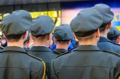 Soldiers Of The Ukrainian Army During The Parade . The Army Of Ukraine, The Armed Forces Of Ukraine, poster