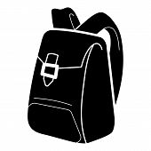Canvas Backpack Icon. Simple Illustration Of Canvas Backpack Vector Icon For Web Design Isolated On  poster