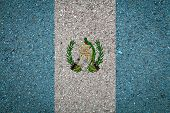 National Flag Of Guatemala On A Stone Background.the Concept Of National Pride And Symbol Of The Cou poster