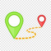 Map Pointer Icon. Cartoon Illustration Of Map Pointer Icon For Web poster