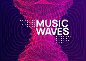Music Fest. Dynamic Fluid Shape And Line. Creative Show Banner Design. Music Fest Neon Flyer. Electr poster