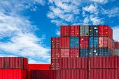 Container Logistic. Cargo And Shipping Business. Container Ship For Import And Export Logistic. Cont poster