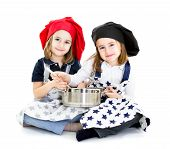 pic of zygote  - chef and cook with pot in white background - JPG