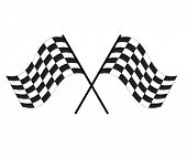Race Flag Icon On White Background. Finishing Flag Sign. Start Symbol. Racing Flag Icon For Your Web poster
