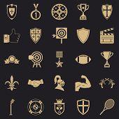 Bonus Icons Set. Simple Set Of 25 Bonus Icons For Web For Any Design poster