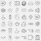 Good Morning Icons Set. Outline Style Of 36 Good Morning Icons For Web For Any Design poster