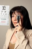 Optometrist Vision Checkup