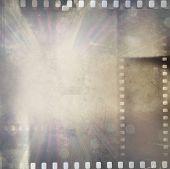 Film negative frames bright background poster