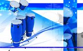 image of congas  - Digital illustration of Congas toca in colour background - JPG