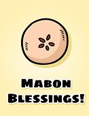 Mabon Blessings Fall Pagan Holiday Apple Postcard. Autumn Harvest Celebration Flyer poster