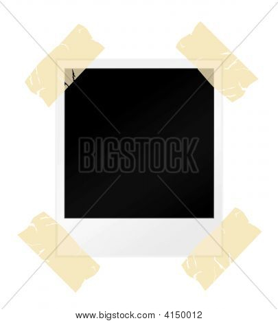 Blank Photograph With Sellotape