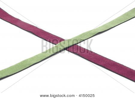 Two Crossed Bands Of Rayon