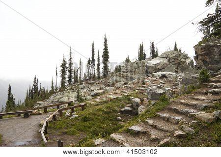 Stone Stairs On Mt Revelstoke