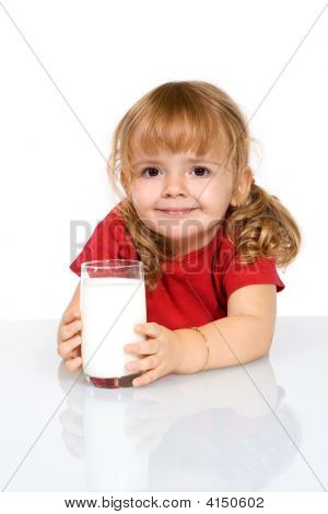 Happy Girl With Milk