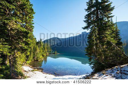 lake in mountains, Mt.Rainier MP