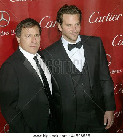 PALM SPRINGS, CA - JAN 5: David O. Russell and Bradley Cooper arrive at the 2013 Palm Springs International Film Festival's Awards Gala on January 5, 2013 in Palm Springs, CA.