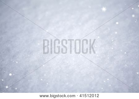 Cool Sparkling Ice Crystal Christmas Background ~ Frozen Aqua or Robins Egg Blue and White Frosty Snow Flakes