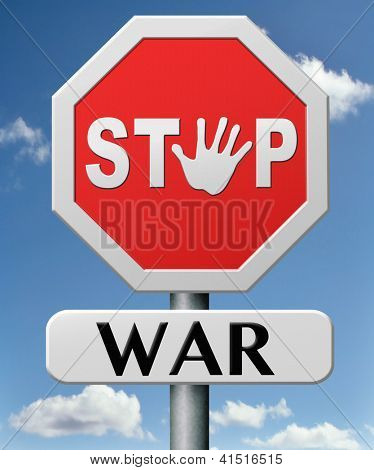 stop war bring peace no more fighting