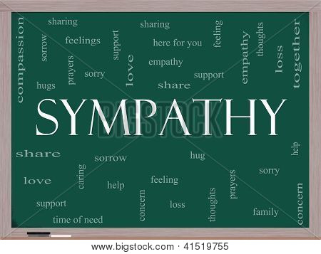 Sympathy Word Cloud Concept On A Blackboard