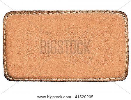 Geschäftliche breit und lang Textur Leder gelb und leere braun Bezeichnung hautnah Aussicht über w isoliert