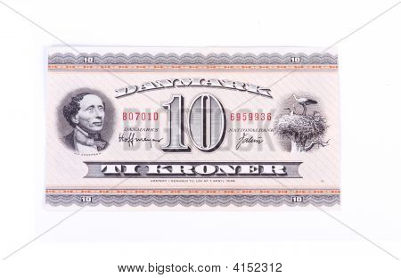 Cash Money, Ten Kroner Bill From Denmark
