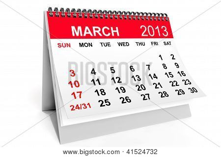Calendar March 2013
