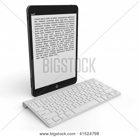 Wireless Keyboard With Tablet Pc