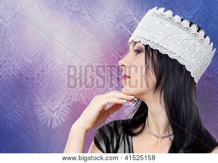 Young Woman Fashion Studio Profile Portrait