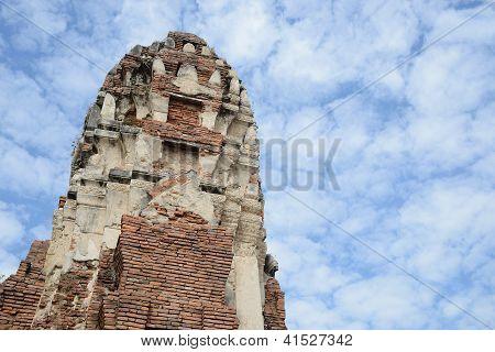 Top Of Pagoda In Wat Phra Mahathat