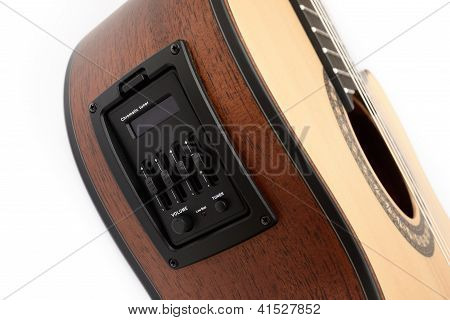 Pickup And Tuner Of Guitar