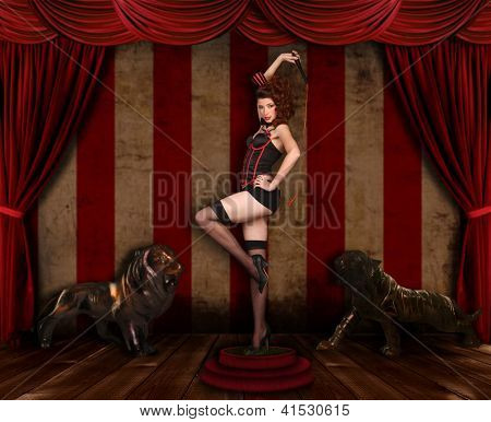 Circus Themed Pin Up Sexy GIrl