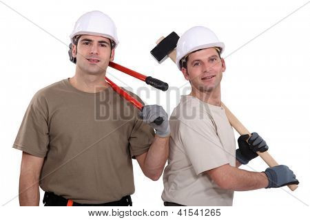 two craftsman standing together