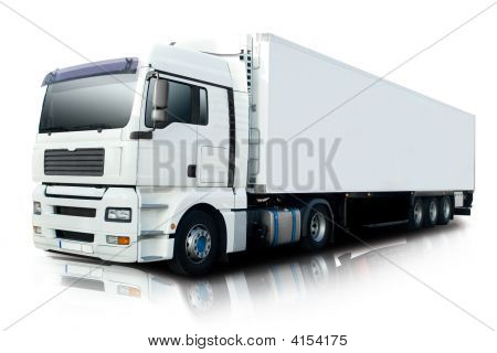 White Semi-LKW